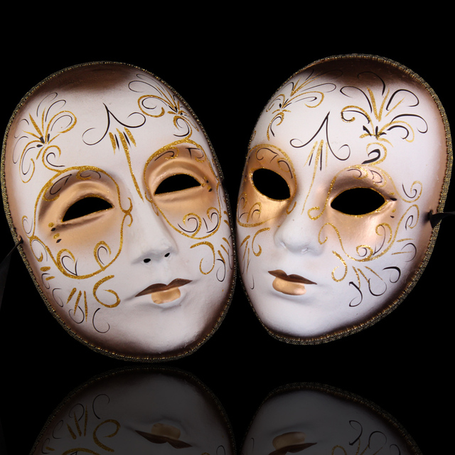 Mask fashion mask exquisite Men Women lovers mask pulp colored drawing masks