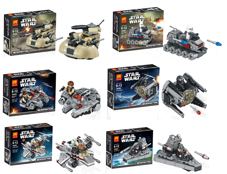 6pcs/set LELE 78085 The Avenger Super Hero Star Wars with Vehicles Building Bricks Blocks Education Toys Compatible With legao(China (Mainland))