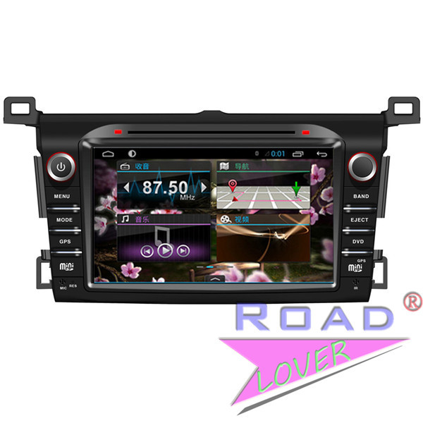 Capacitive 8'' Android 4.4 Car Stereo for Toyota RAV4 2013-2014 GPS Navi RDS 8G Support 3G Wifi TV Radio Dual Core wifi Free map(China (Mainland))