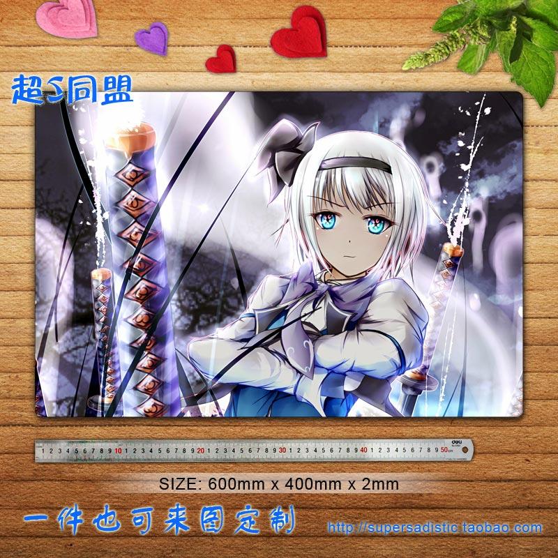 Touhou Project Anime Characters (Youmu Konpaku 1) Large Gaming Mouse Pad Desk & Table Play Mat Custom Mouse Pad(China (Mainland))