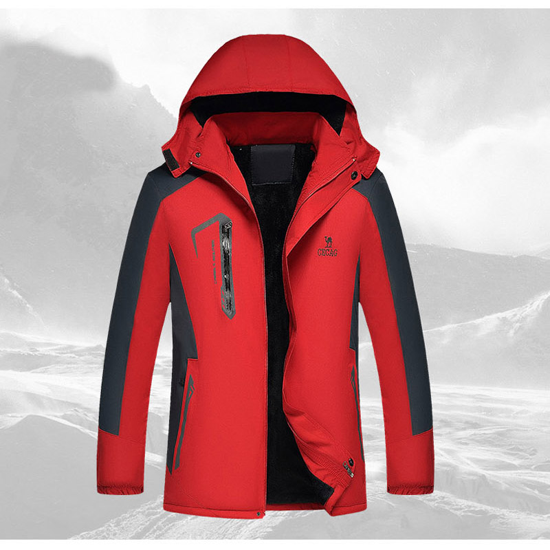 2015 new waterproof Add hair thickening coat outdoor camping hiking Mens jacket<br><br>Aliexpress