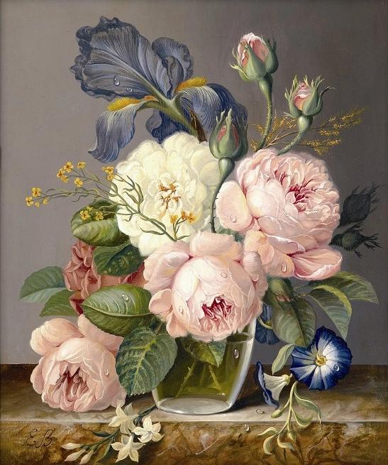 вышивка бусины любовь ваза