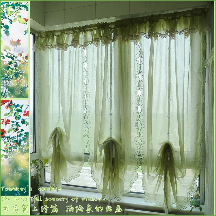 Sheer balloon curtains promotion shop for promotional sheer balloon curtains on for Balloon curtains for living room