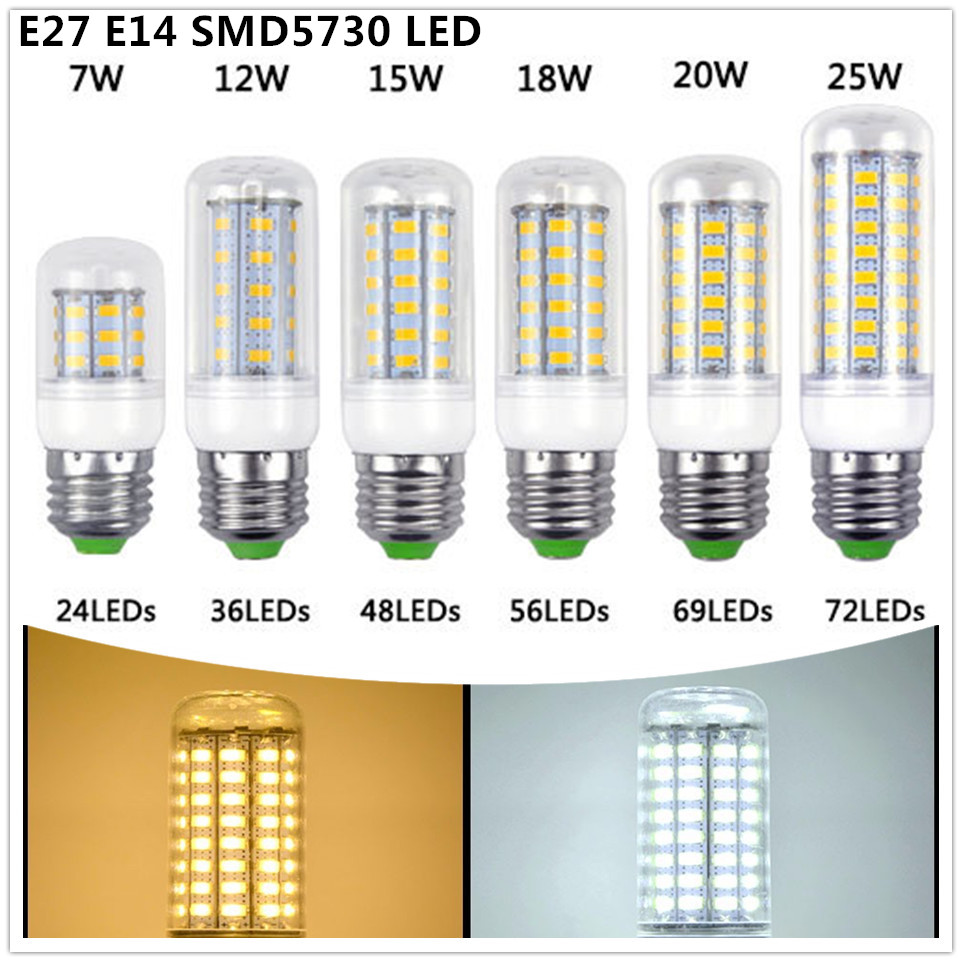 Super Bright 7W 12W 15W 18W 25W LED Corn bulb commercial light with E27 E14 Spot light LED Global inddor Downlight(China (Mainland))