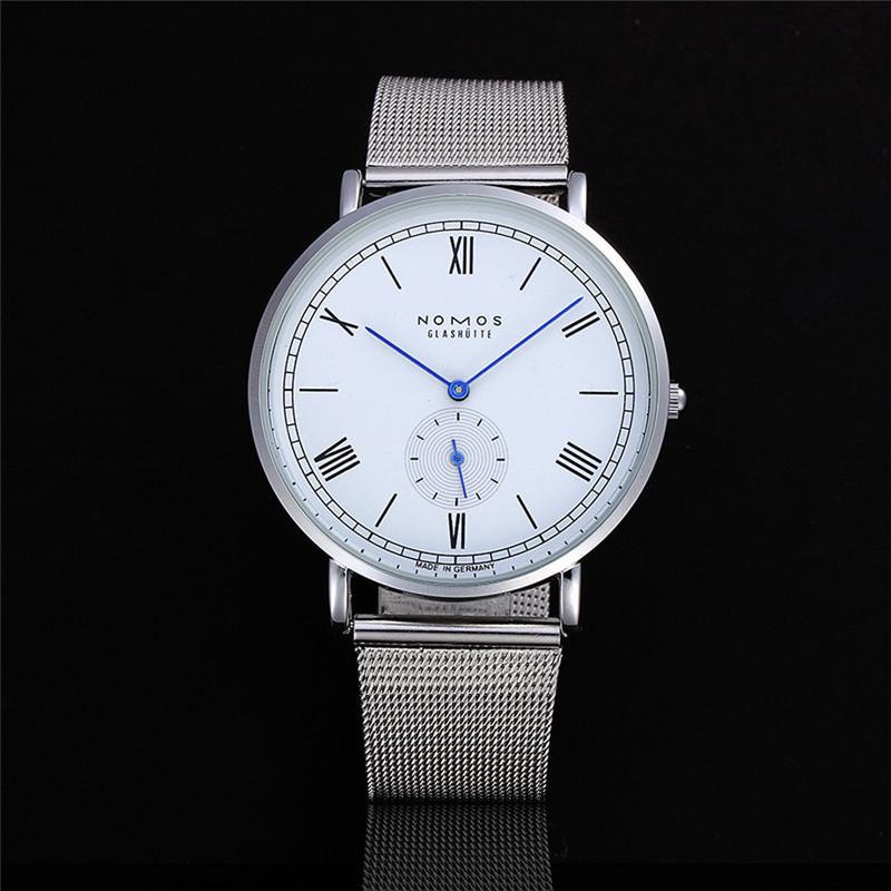 Nomos Quartz-Watch Men Women Top Brand Stainless Steel Watches Reloj Mujer 2016 Relojes Montre Homme De Marque