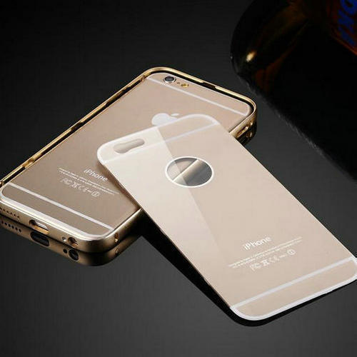 6G New luxury Ultra thin Aluminum Metal Frame+Acrylic Back Cover Case For Apple iphone 6 6G 4.7 inch Metal Case bags(China (Mainland))