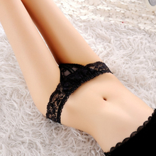 Women Lace Open Back Crotch Sexy Panties Crotchless Sexy Panties Briefs Underwear G String(China (Mainland))