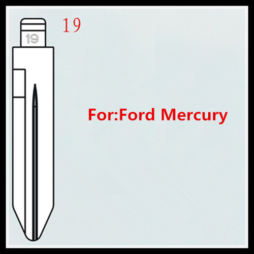 100pcs/lot for 19# uncut car key blank blade for Ford Mercury M019(China (Mainland))