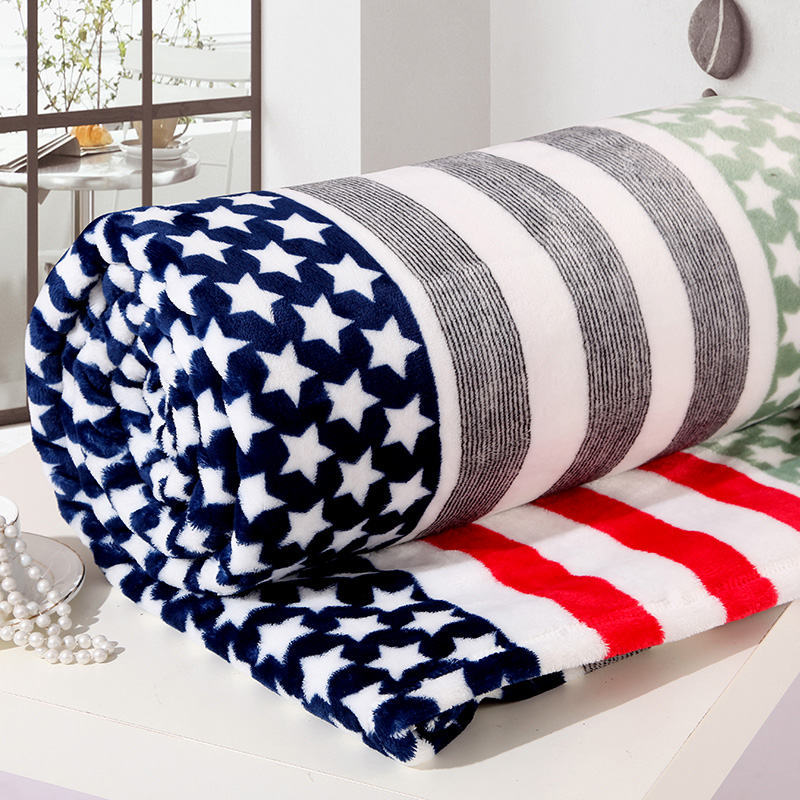 Children super soft blankets rainbow the American flag blanket sofa striped plaid cover blankets on the bed size 150*200 CM(China (Mainland))