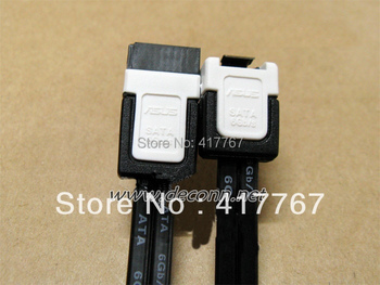 Free Shipping 5PCS SATA III (3) 6GB/s Data Cable 18' Straight Right Angle HDD SSD Black Cable