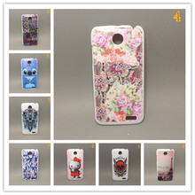 Fashion design Rubber Flower Painting Hard Plastic cell Phone Case for Lenovo A516 A378T+ 1 Screen Protector
