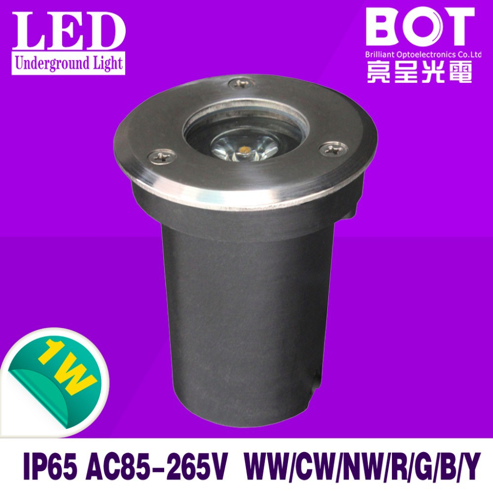 10pcs/lot 1*1W LED underground lamps Buried lighting AC85-265V IP65 garden/grass land/stage/bar/square lighting free shipping(China (Mainland))