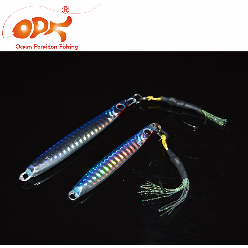 21g/ 40g jigging head Lure Baits with Mustad iron hook  for Spanish Mackerel package 3pcs/lot