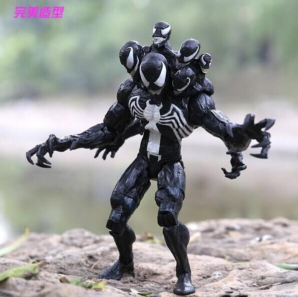 8 inch20cm Marvel Spider Man Venom PVC Action Figure Toys Model Doll Box - Godzone store