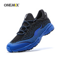 ONEMIX Man Running Shoes For Men Olympic Athletic Trainers Black Blue Zapatillas Sports Shoe Outdoor Walking