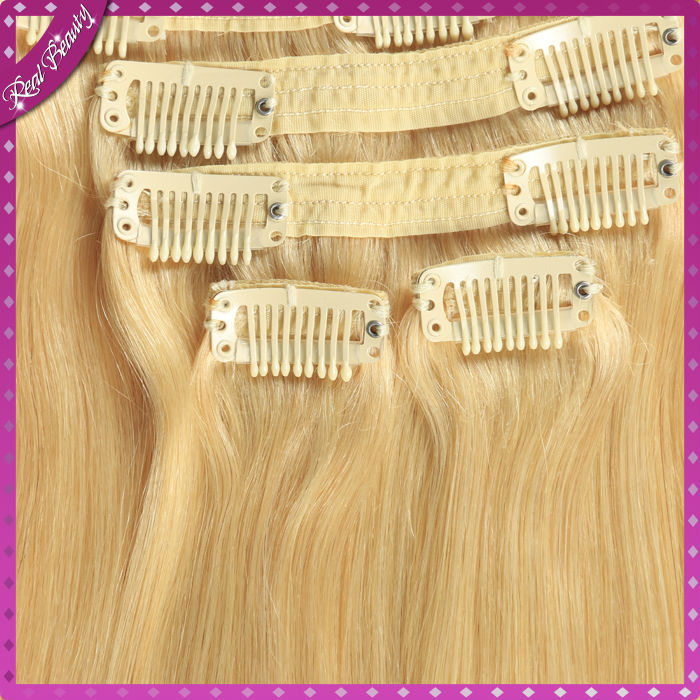 Hot 7A Remy Clip In Human Hair Extensions Brazilian Human Hair 10pcs/set 140g brazilian hair clip in extensions<br><br>Aliexpress