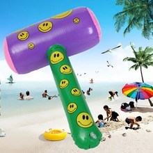 "1PCS 50cm Cute Funny Inflatable Toys Smiley Mallet Hammer Swimming Pool Beach Party Accessory And Bag Filler Kid Toy 18.9x10.2""(China (Mainland))"