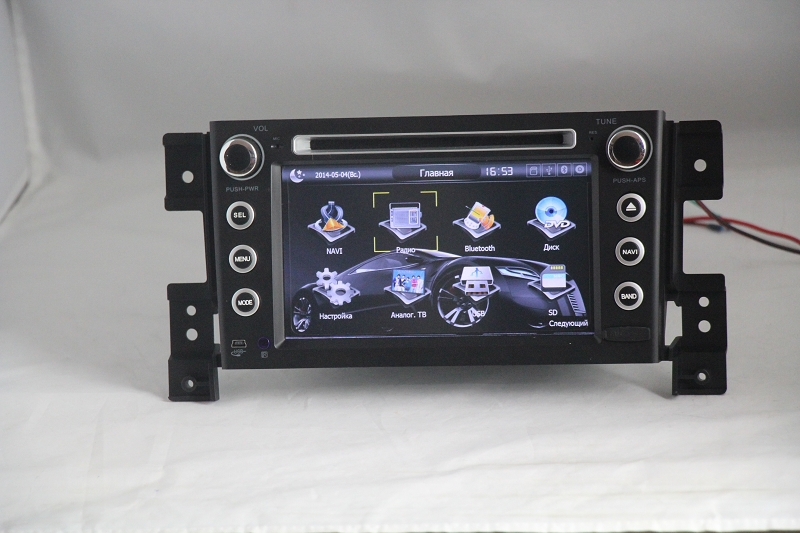 free shipping  Car DVD for SUZUKI Grand Vitara 2006-2010 car  radio with  HD screen audio video player with free map<br><br>Aliexpress