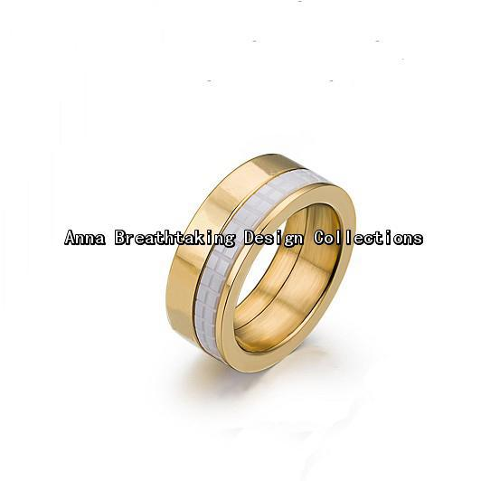 Amazing Designer Move Ceramic Ring,3 Gold Colors Available,with White Ceramic.Every Part Can Move.Stylish Ring For Pretty Women(China (Mainland))