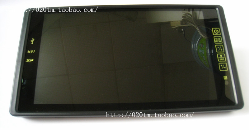 9 inch car rearview mirror reversing P5 monitor touch screen display F emission pluggable USB(China (Mainland))