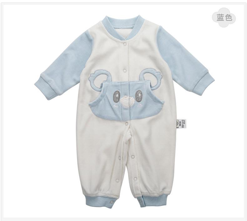 Скидки на Baby rompers симпатичные животные коала один кусок одежды младенца длинный рукав детский комбинезон и комбинезон новорожденных продукта