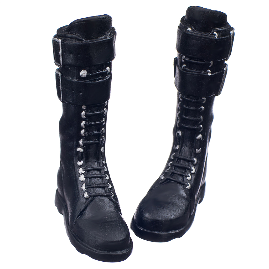 1/6 Female Flat Lace Up Shoe Boots for 12inch Kumik Phicen Hot Toys Body Figure