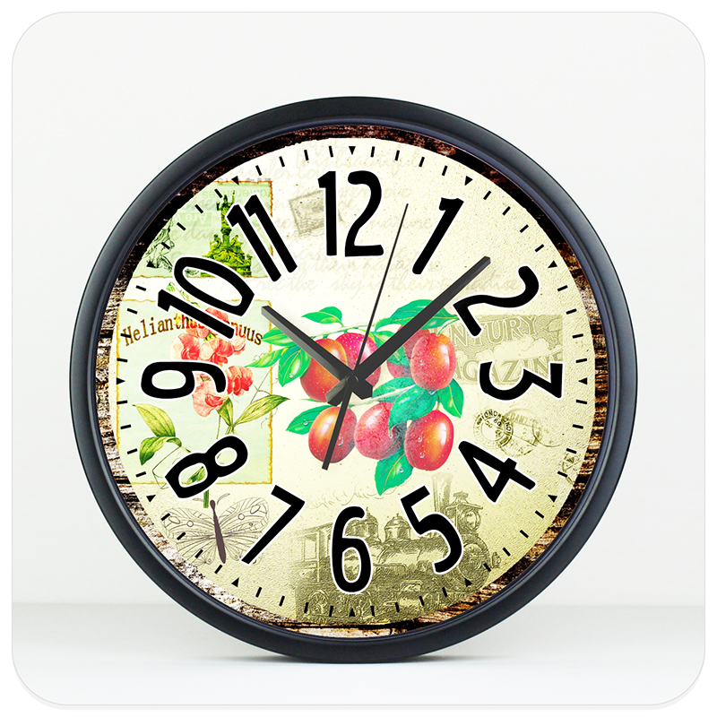 modern kitchen wall clock metal case 8 color large size home decoration wall clocks quartz silent watch wall unique gift(China (Mainland))