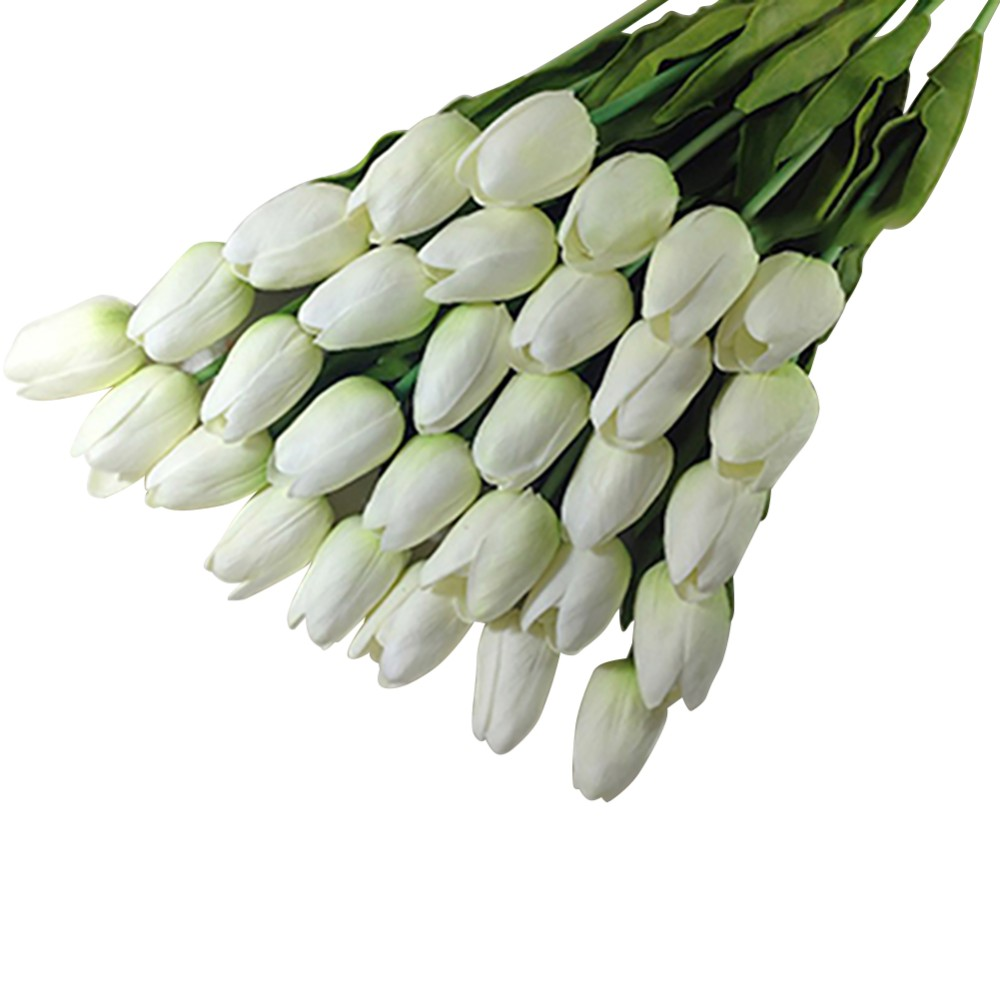 Hot Sales 10PCS New Tulip Artificial Flower Latex Real Touch Bridal Wedding Bouquet Home Decor