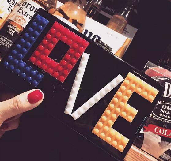 Новинка Lego акриловые любовь форме сердца смайлик леди клатч вечерняя сумочка цепь сумка кошелек кошелек сумка кошелек
