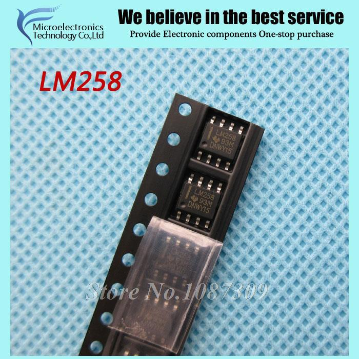 10pcs free shipping LM258 LM258DR SOP-8 Operational Amplifiers - Op Amps 3-32V Dual Low Bias -25 to 85deg C new original(China (Mainland))