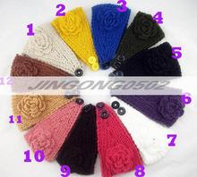 Flower Hairband Women Knitted Headwrap ladies Knitting Crochet Headband Ear Warm for Girls Women Headwear hair accessories
