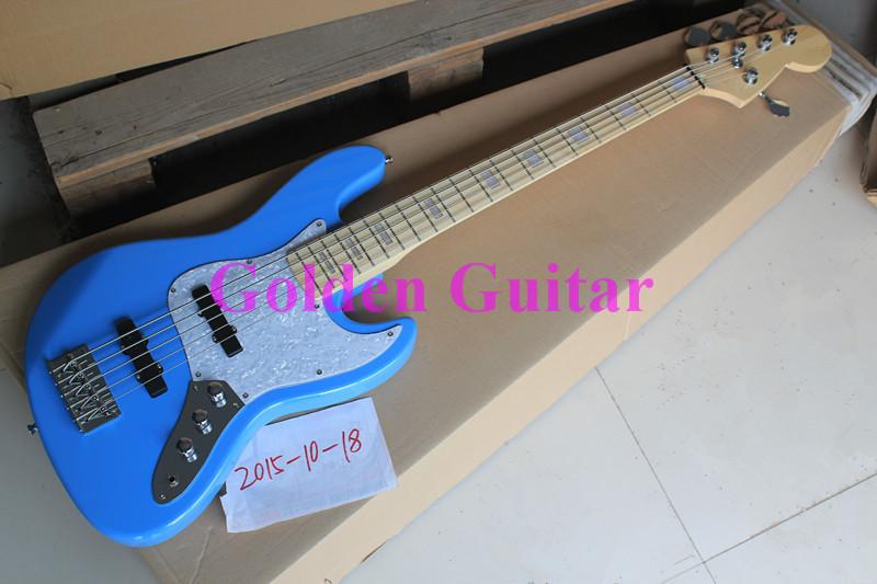 2019 free shipping factory German jazz guitar show F bass guitar, F5 strings jazz guitar bule bass guitar(China (Mainland))