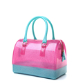 Trendy Fashion Transparent Candy Color Medium Size Women Cute Bag Ladies Cheap Casual Contrast Color Shoulder