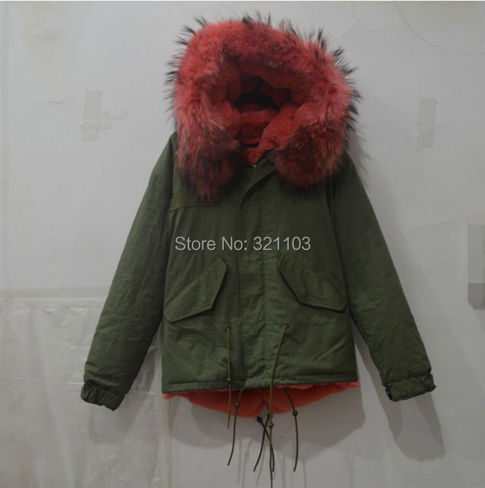 winter jacket women slim real fur collar thickening coat hooded medium-long parka plus size outwear casual overcoat - foxfurs store