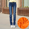 Warm Jeans For Women Thick Fleece Pants Winter long Jeans Female Stretch Straight Fashion High Waist