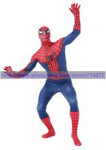 Hot Sale super cool adult kids Lycra spiderman costume spiderman hoodie onesies spider man cosplay costume