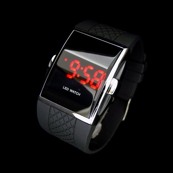 Newest Hot style LED Wrist watch Gifts Kid boys Men Black NVIE(China (Mainland))
