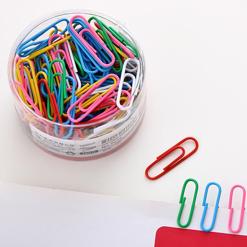 Free shipping deli stationery lackadaisical deli 0038 multicolour metal paper clip 30mm colored paper clips<br><br>Aliexpress