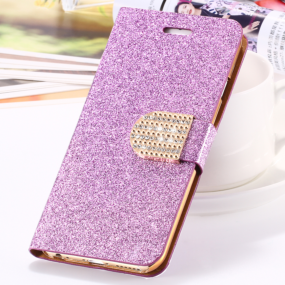 i6 /plus Luxury Bling Diamond Glitter Flip Case for Apple iphone 6 4.7 / Plus 5.5 Leather Girl Bag Wallet Stand Rhinestone Cover(China (Mainland))