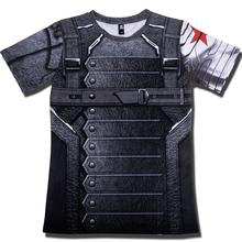 半袖3d tシャツ男性tシャツ男性クロスフィットtシャツキャプテンアメリカスーパーマンtシャツ男性フィットネス圧縮シャツパニッシャーmma(China)