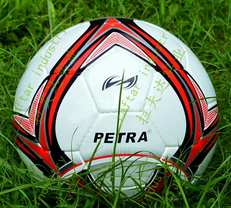 New Arrival Pakistan Handmade Size 5 Soccer Ball For Match, Top Quality Pakistan Handmade All-weather Size 5 Football 2 Colors(China (Mainland))
