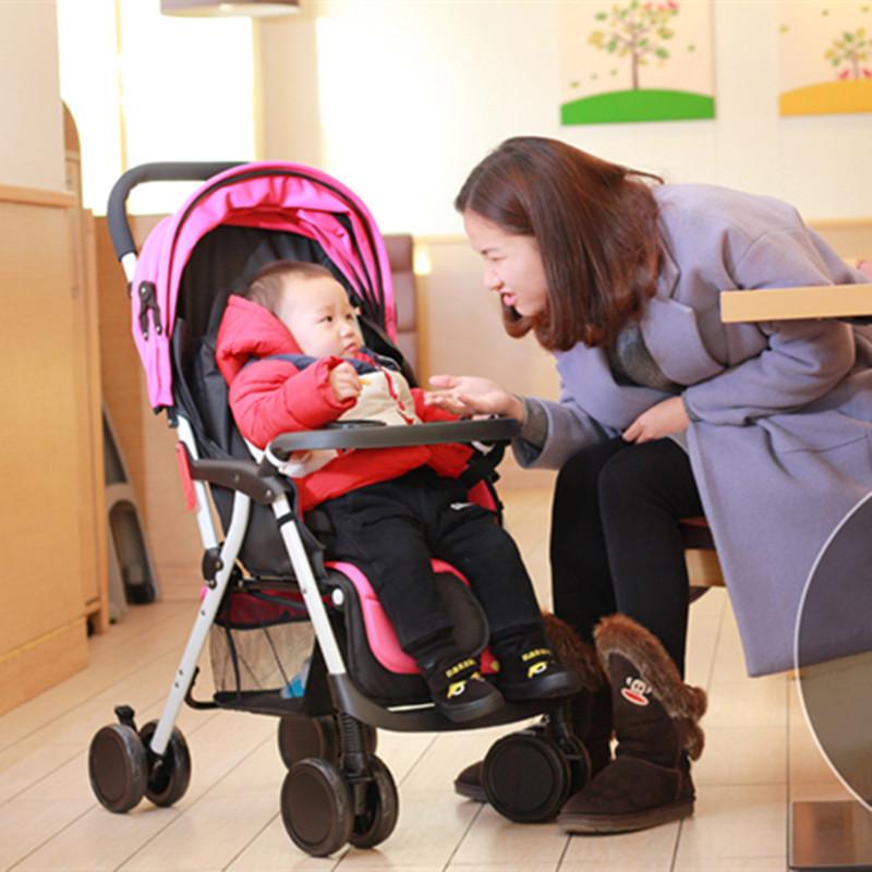 High Landscape Four-wheel Shock Baby Strollers 3 Activity Position Lightweight Pushchair 5.4KG 6 Colors Folding Pram 45*67*97CM<br><br>Aliexpress
