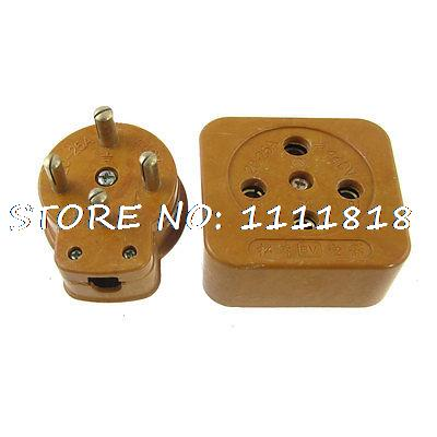 Orange AC 440V 20-25A Three Phase Four Wire Electricity Control Socket(China (Mainland))