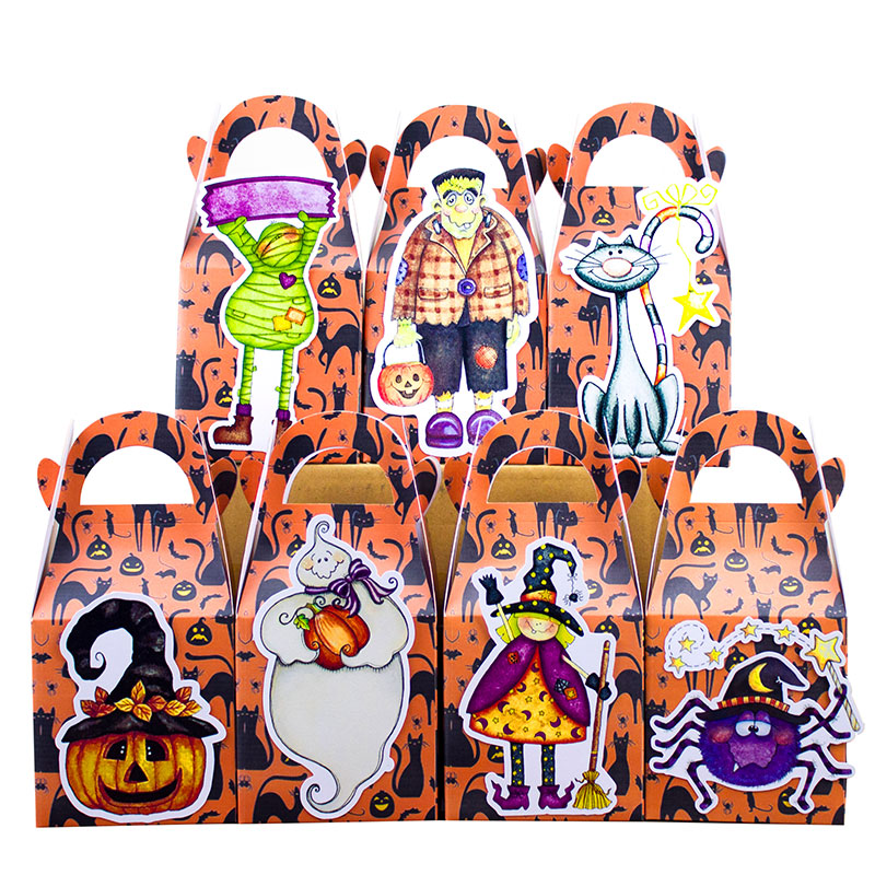 Halloween Favor Box Candy Box Gift Box Cupcake Box Boy Kids Birthday Party Supplies Decoration Event Party Supplies(China (Mainland))