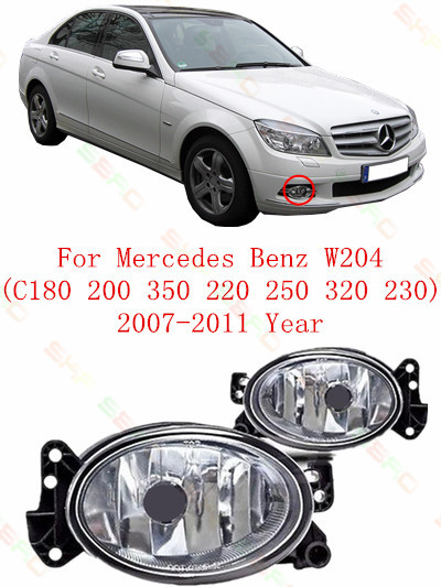 For mercedes benz W204  C180/200/350/220/250/320/230  2007/08/09/10/11  Fog Lights car styling  Oval<br><br>Aliexpress