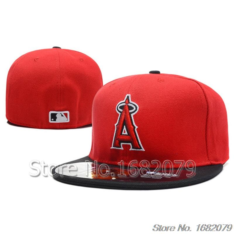 product Men's Los Angeles Angels Anaheim sport team fitted cap LA on field full closed design baseball hat
