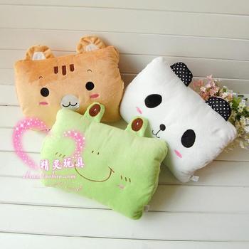 Hands warm powder rabbit frog hand warmer pillow cushion nap pillow plush toy