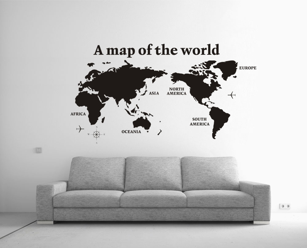 High Quality 2014 New Large 80x138cm Cool A Map Of The World Wall Decoration Home Wall Decal