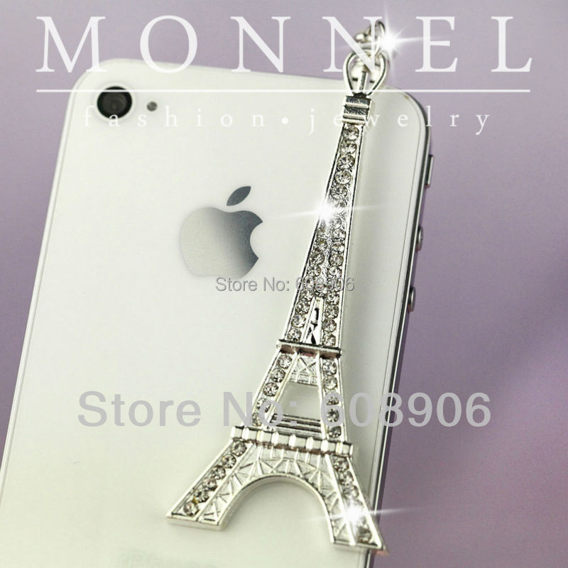 IP464a MONNEL Special Offer Adorable Paris Tower Anti Dust Earphone Jack Charm Mobile Phone Plug(China (Mainland))