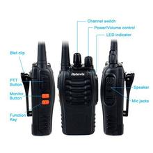 2 PCS Retevis H777 Radio Walkie Talkie 5W UHF 400 470MHz 16CH Ham Radio Portable Hf